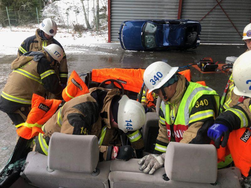 Trafikolycka - först på plats